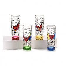 bicchieri design bicchieri liquore alti 4 pezzi romero britto idea regalo design