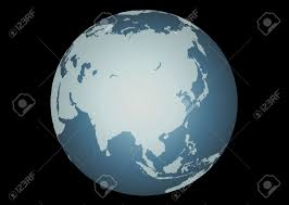 Accurate Map Of The World Asia Vector Accurate Map Of Asia Mapped Onto A Globe Includes