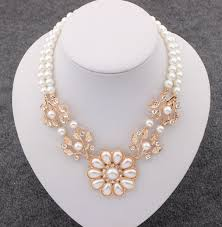 white pearl beaded necklace images Lastest design simulated white pearl necklace for women fashion jpg
