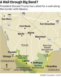 Big Bend National Park Map With Land Already In Hand Trump Eyes Big Bend For Border Wall