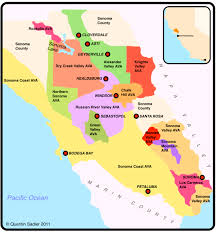 sonoma california map sonoma california s cool coast quentin sadler s wine page