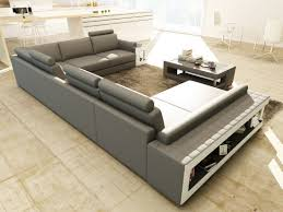 Coffee Table For Sectional Sofa Divani Casa 5080 Grey And White Leather Sectional Sofa W Coffee Table