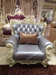 drawing room new fashion simple wooden royal leather sofa sets