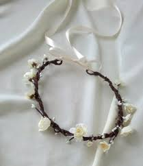 hair wreath bridal flower crown wedding bridal hair wreath silk cherry