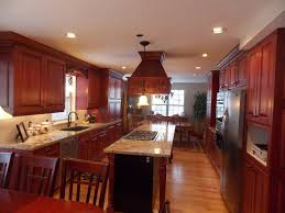 kitchen backsplash ideas with cherry cabinets fence garage style