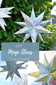 Blank Ornaments To Personalize How To Make Gorgeous Free Printable Map Star Decorations Fun Diy