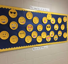 emoji bulletin board idea great for back to back to