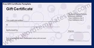 microsoft gift certificate templates