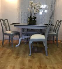 Dining Room Table Refinishing Queen Anne Style Chalk Painted Dining Set Dining Table And Four