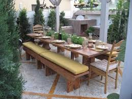 custom made dining table with built in herb garden by oldpine