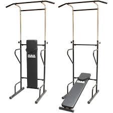 max fitness power tower push pull up bar press ups sit chin dips