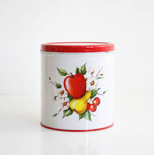 white kitchen canisters sets vintage decoware fruit kitchen canister vintage red and white