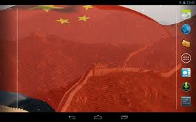China Flag Waving 3d China Flag Live Wallpaper Android Apps On Google Play