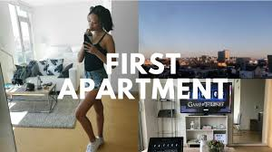moving into first apartment vlog youtube
