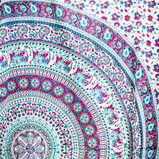 Bedroom Ideas With Tapestry Pink Elephant Mandala Tapestry U2013 Sugar Momo Ideas For The House