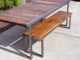 Industrial Dining Table 5 Ft Industrial Dining Table With Rectangular Steel Legs Mt Hood