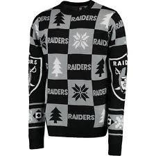 raiders light up christmas sweater men s oakland raiders nfl sweaters ebay