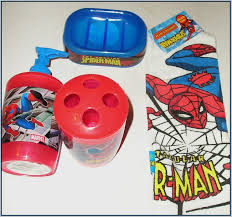 likeable spiderman bathroom set pkgny com at accessories