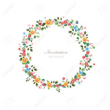 Floral Invitation Card Designs Invitation Card With Floral Wreath For Your Design Royalty Free