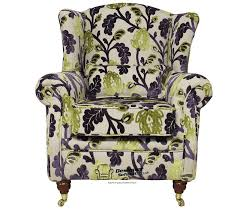 Aubergine Armchair 22 Gorgeous Printed Wing Back Chairs Home Design Lover