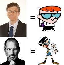 Bill Gates And Steve Jobs Meme - steve jobs vs bill gates cartoon best car 2017