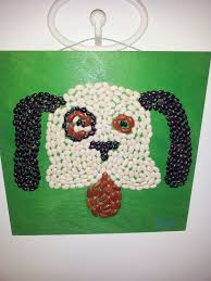 bean and seed mosaic crafts ideas using beans pinterest