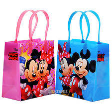 mickey mouse gift bags 12x disney mickey minne mouse kid s party loot bags birthday goody