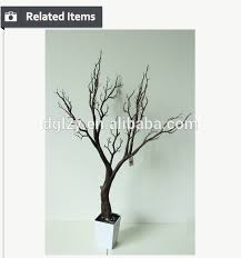 artificial dry tree branch for festival decoration golden coral