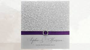 Purple And Silver Wedding Invitations Purple Wedding Invitations Youtube