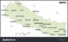 Nepal Map World by Nepal Country Map Stock Vector 90517669 Shutterstock