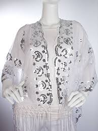1920s shawls scarves and evening jacket tips