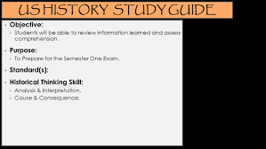 u s history semester one exam ppt download