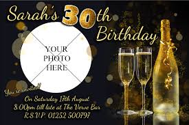 personalised black u0026 gold glitter birthday party invitations n206