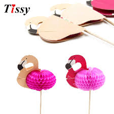 aliexpress com buy 15cs diy 3d flamingo cake topper picks
