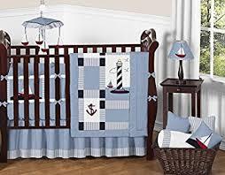 Baby Boy Bedding Crib Sets Sweet Jojo Designs 9 Come Sail Away Nautical