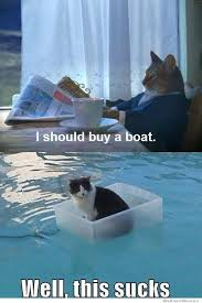 Rich Cat Meme - cat finally buys a boat weknowmemes
