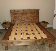 Build Platform Bed Frame Queen by A Queen Size Bed Platform No Box Spring Necessary Built From