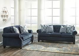 orleans furniture lavernia navy sofa and loveseat