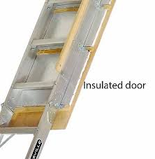 folding attic ladder steps stairs garage ceiling aluminum pull