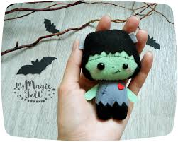 ornaments felt decor frankenstein felt