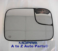 dodge ram tow mirror glass replacement oem mopar 5191036aa towing mirror glass power heated passenger for