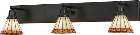 Craftsman Bathroom Lighting Meyda 153468 Prairie Mission Craftsman Bathroom