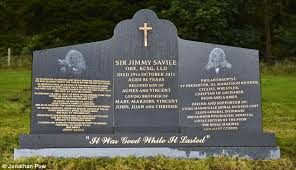 gravestone maker sir jimmy savile s friends fix him a headstone to remember