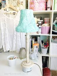 how to make a shabby chic lampshade and distressed lamp base