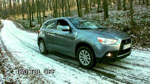 Mitsubishi Asx 2wd 4wd Lock Awd Test On Snow U0026 Ice Rvr