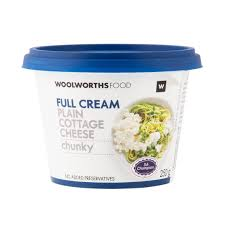 Cottage Cheese Full Cream Plain Chunky Cottage Cheese 250g Woolworths Co Za