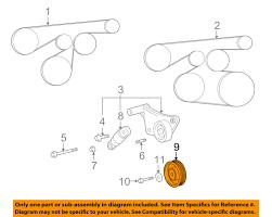 pontiac gm oem 09 10 vibe 2 4l l4 drive belt idler pulley 19185216
