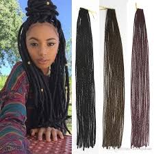 fashion burgundy brown black twist faux locs crochet