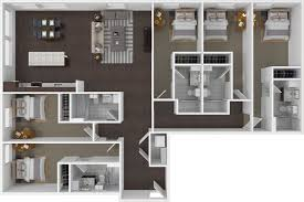 five bedroom floor plans floorplans the cadence tucson