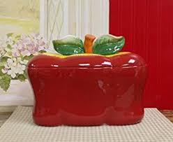 apple canisters for the kitchen amazon com apple breadbox canister bread boxes kitchen dining